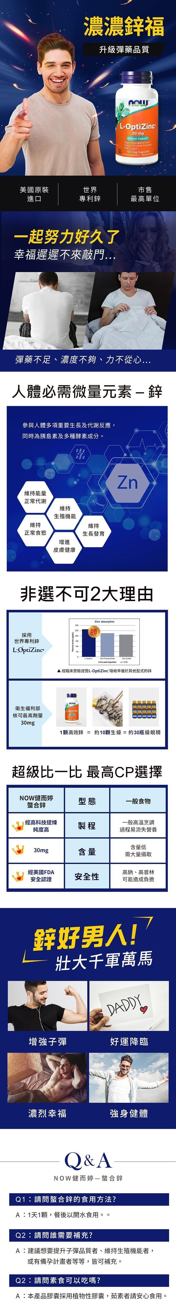 NOW健而婷-高效能鋅配方植物膠囊食品(100顆)產品資訊