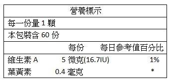美天健-亮亮山桑子嚼錠(60錠X2瓶 優惠組)成份含量