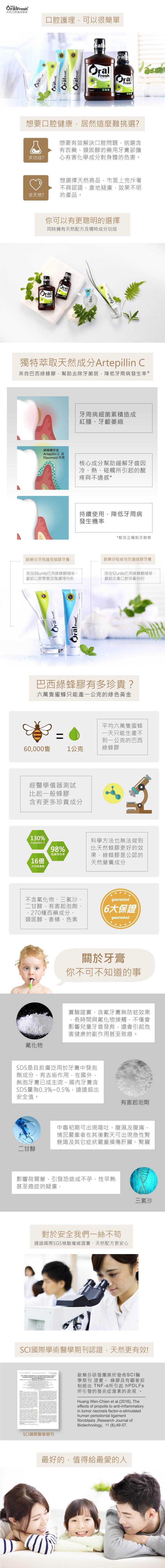 歐樂芬牙周護理蜂膠牙膏(120g)產品資訊