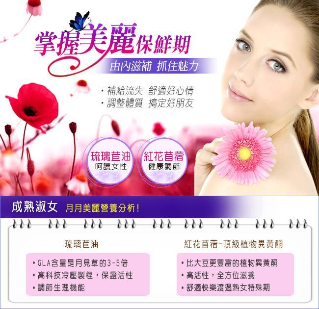 NOW健而婷-美麗魅力套組(琉璃苣油+紅花苜蓿)產品資訊