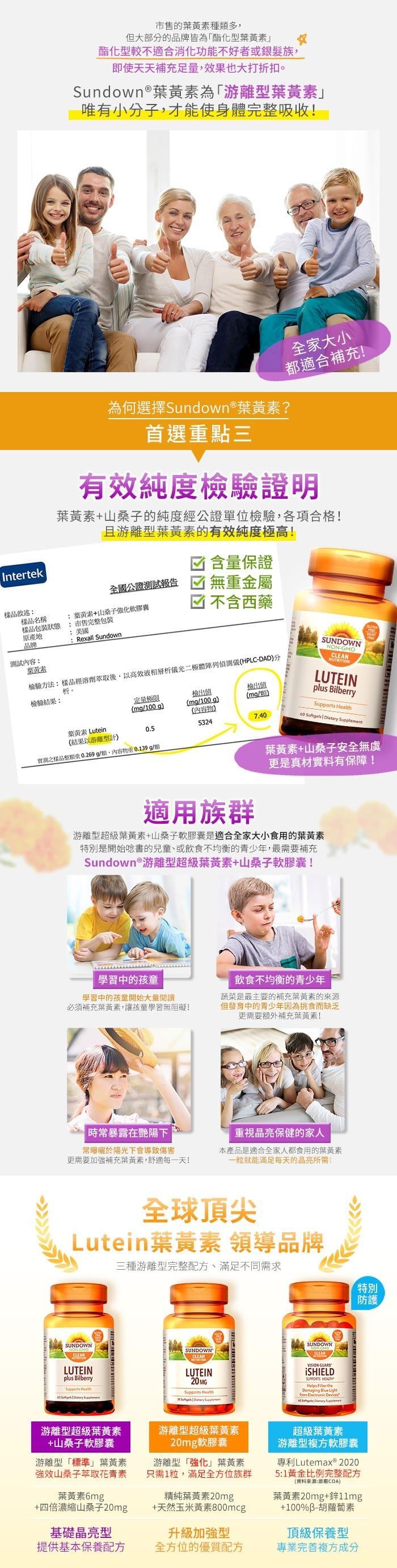 Sundown日落恩賜 游離型超級葉黃素+山桑子軟膠囊(60粒X3瓶)產品資訊