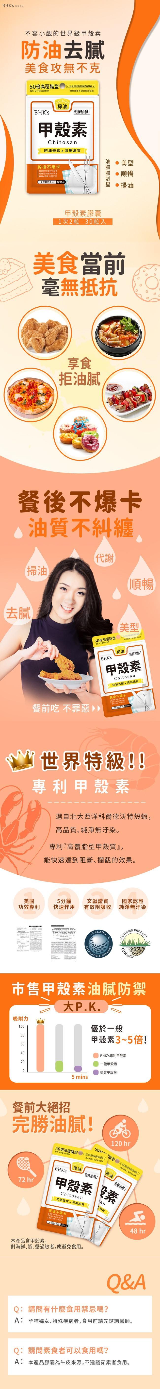 BHK's-甲殼素膠囊食品(30顆/袋)產品資訊