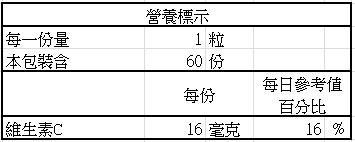 日本味王-蔓越莓口含錠升級版(60粒)成份含量