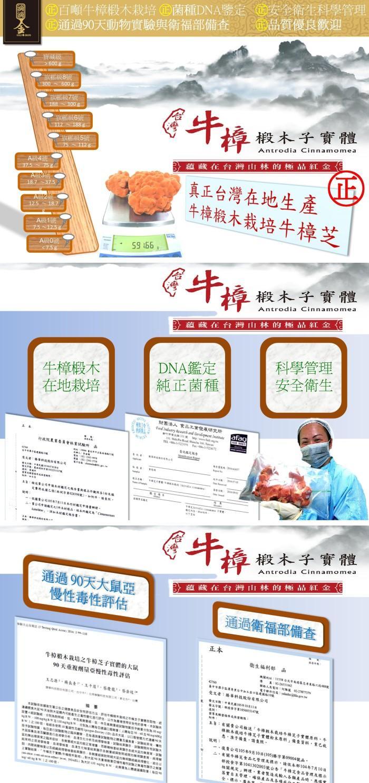 滴滴金-牛樟芝養生膠囊(20粒)產品資訊