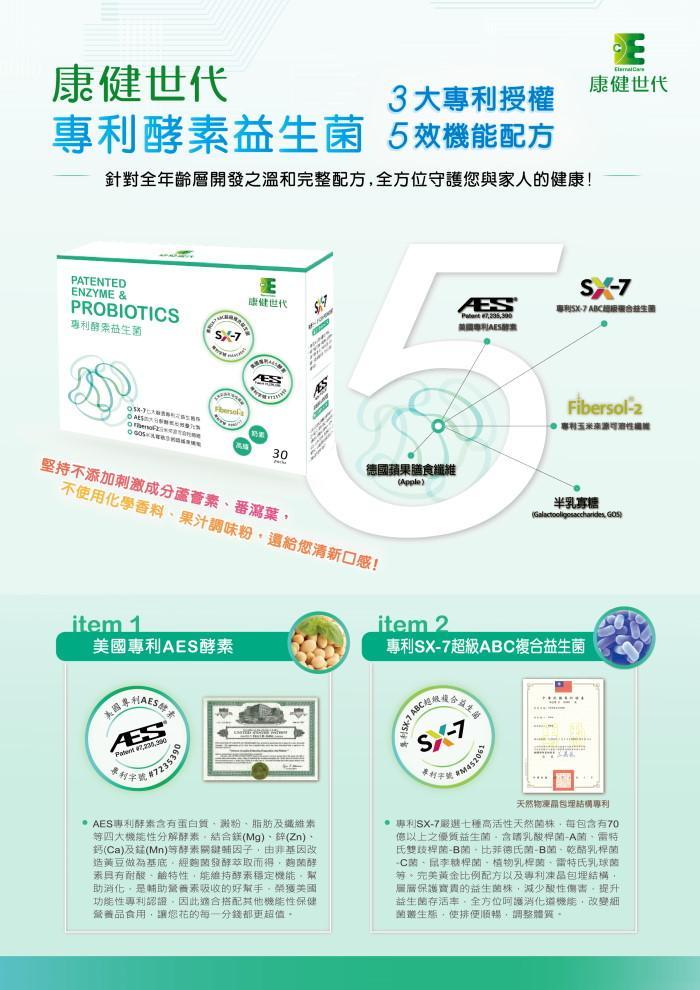康健世代-專利酵素益生菌(30包)產品資訊