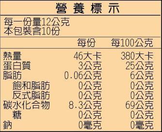 美天健-黑豆茶包(10包裝)成份含量