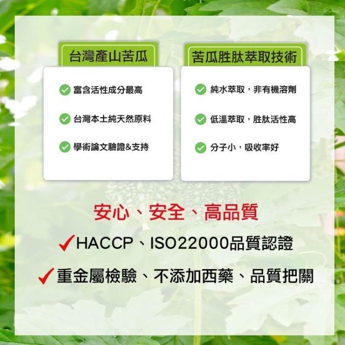 湧鵬生技-苦瓜胜肽(60粒X6盒)產品資訊
