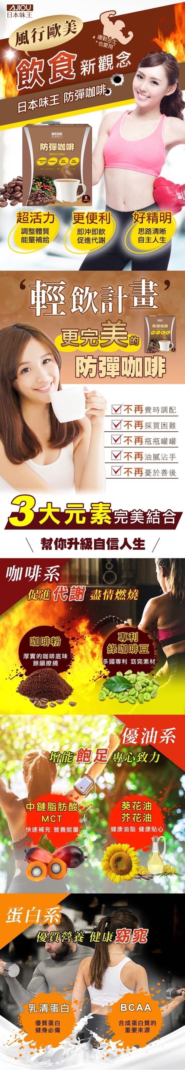 日本味王-防彈咖啡(8包)產品資訊
