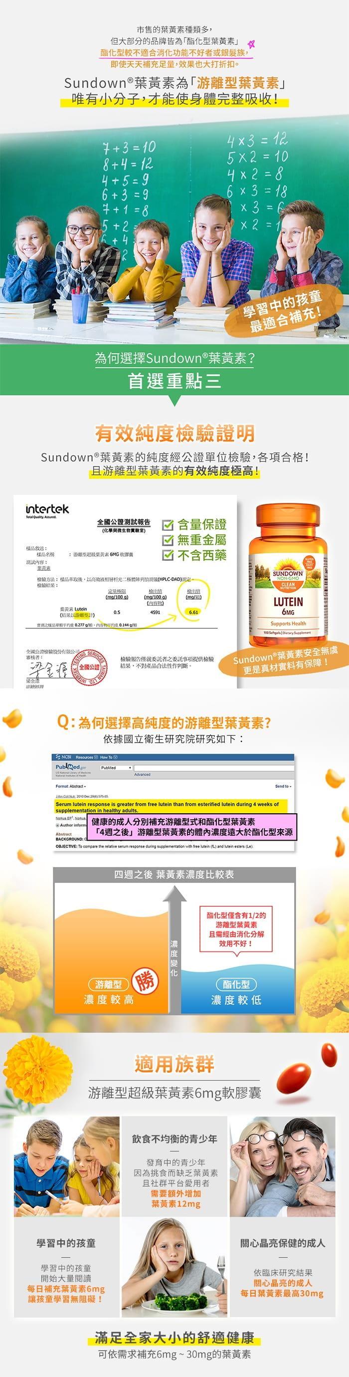 Sundown日落恩賜-游離型超級葉黃素6mg軟膠囊(100粒)產品資訊