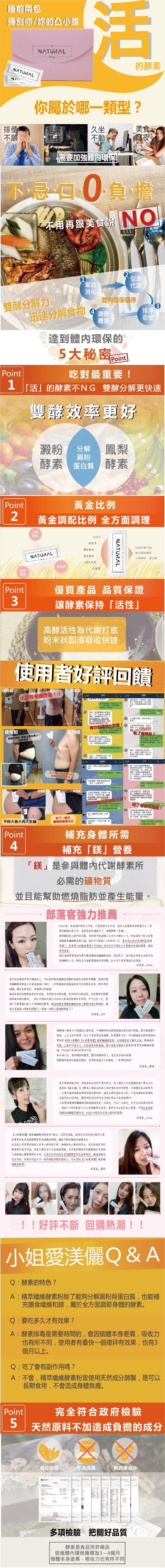 【小姐愛渼儷】精萃纖維酵素粉(4gX30包)產品資訊