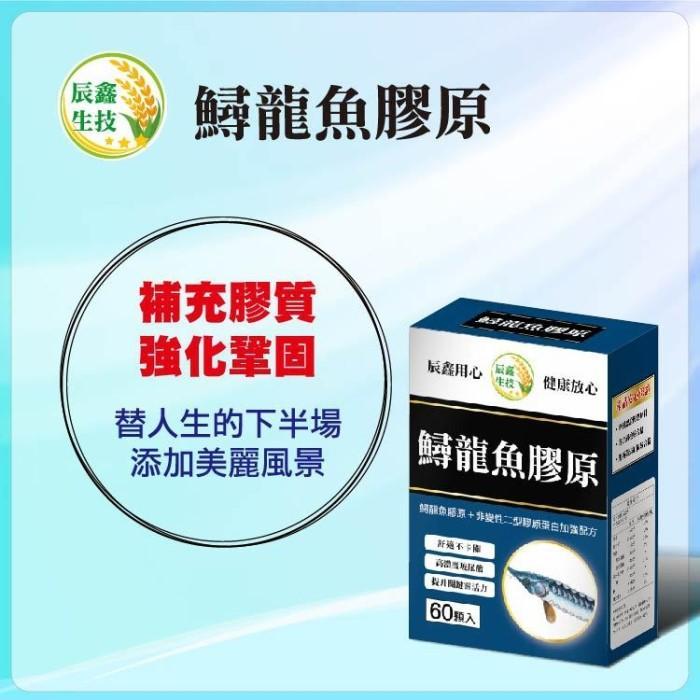 辰鑫生技-鱘龍魚膠原(60粒X2盒)優惠組產品資訊