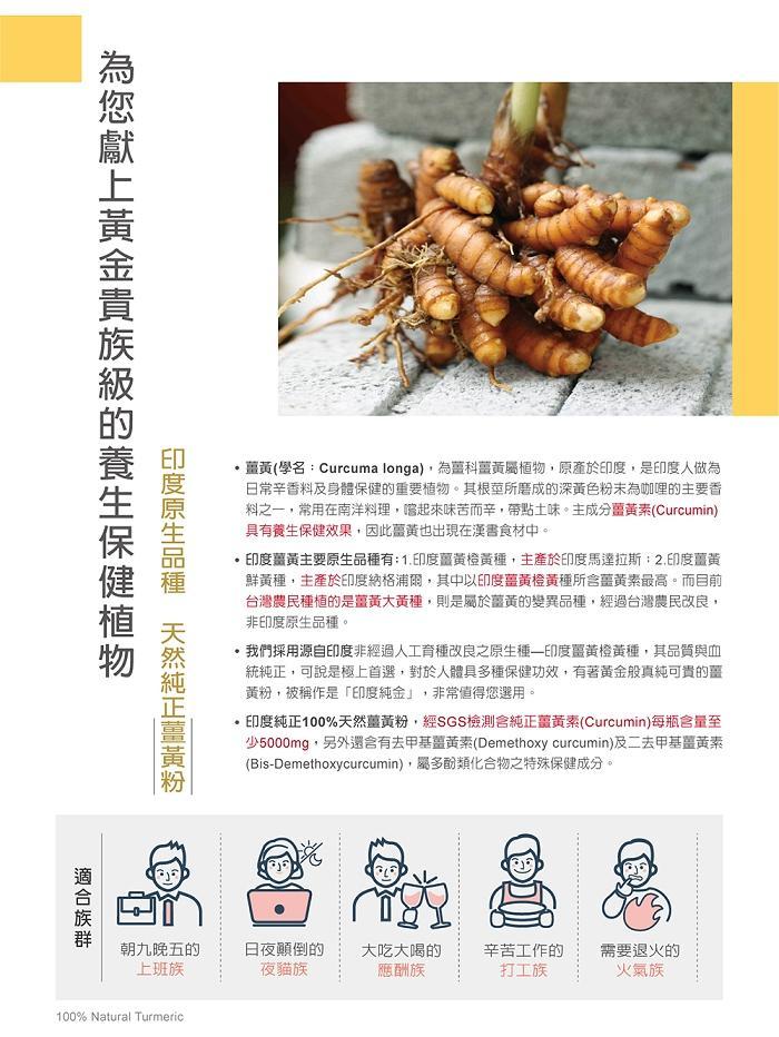 台灣優杏-薑黃粉(250g)產品資訊