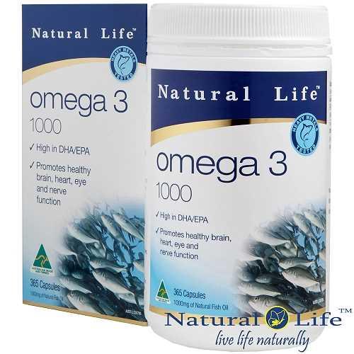 Natural Life-高純度深海魚油1000mg(365粒)