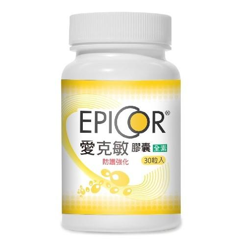 捷安生醫-EPICOR愛克敏膠囊(酵母菌發酵物)(30粒_30天份)