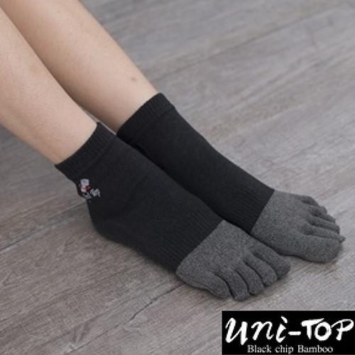 Uni-TOP 銀纖維竹炭能量乾爽五趾襪(女)