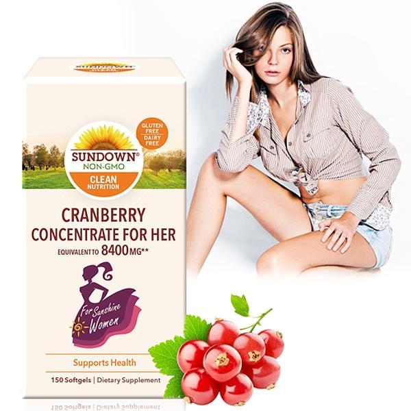 Sundown日落恩賜-超級蔓越莓plus維生素D3軟膠囊(150粒_150天份)(效期至2021年11月30日)