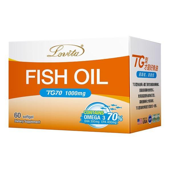 Lovita愛維他-TG70魚油 1000mg(60顆-30天份)(效期~2022/2)