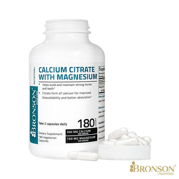 Bronson博爾生-檸檬酸鈣+鎂(180顆)