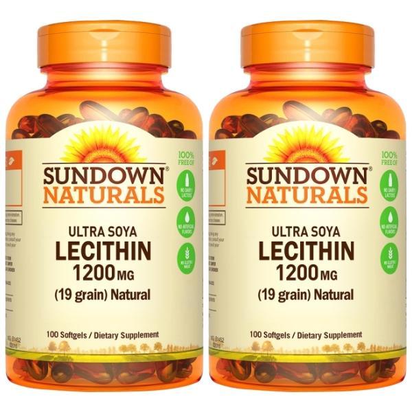 Sundown日落恩賜-頂級61%卵磷脂膠囊(100粒X2瓶)