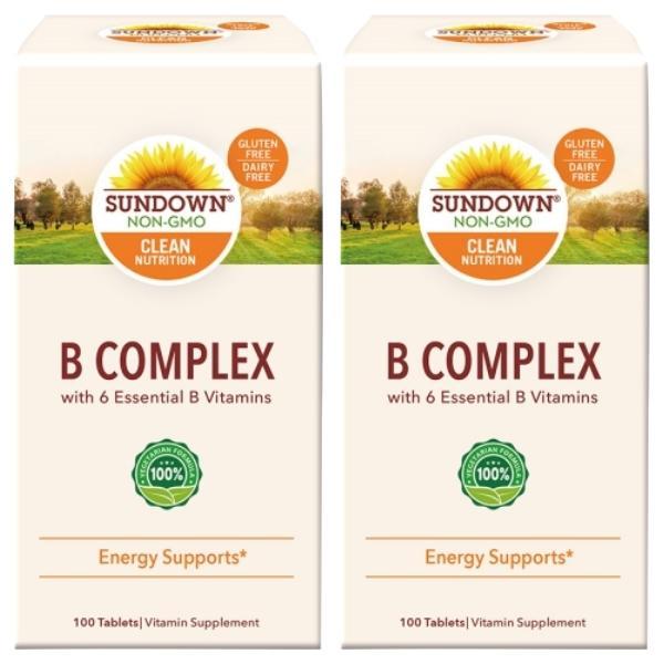 Sundown日落恩賜-每日綜合B群RDV錠(100錠X2瓶)