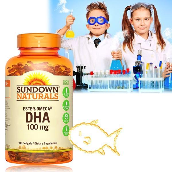 Sundown日落恩賜-兒童精明鮪魚油DHA軟膠囊(100粒X2瓶)