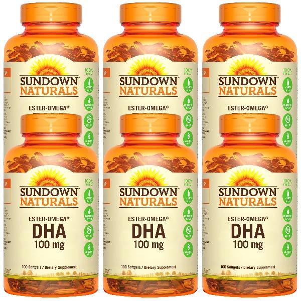 Sundown日落恩賜-兒童精明鮪魚油DHA軟膠囊(100粒X6瓶)