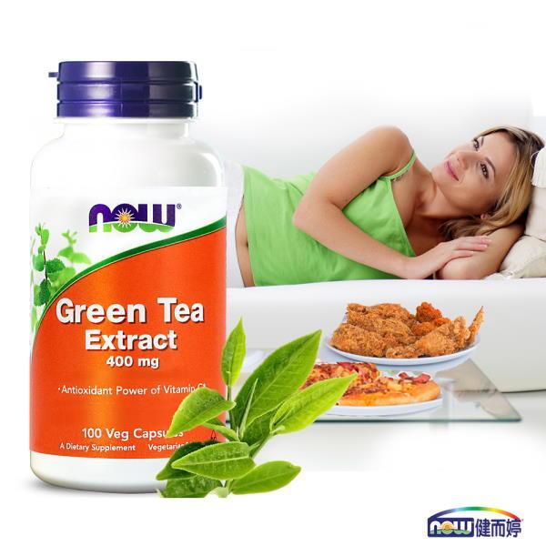 NOW健而婷-綠茶+C植物膠囊食品(100顆/瓶)