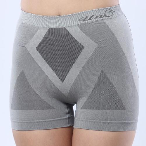 Uni-TOP (鍺)竹炭防黴銀纖維提臀女平口褲(高腰)