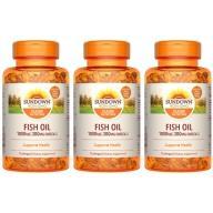 Sundown日落恩賜-高單位精純魚油膠囊食品(72粒X3瓶)優惠組