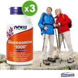 NOW健而婷-葡萄糖胺1000(60顆)(3瓶優惠組)