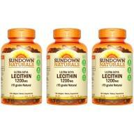 Sundown日落恩賜-頂級61%卵磷脂膠囊(100粒X3瓶)