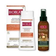 BIOXSINE沛優絲-咖啡因複方雙動力護髮組A(洗髮精1瓶+髮油1瓶)
