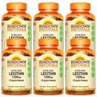 Sundown日落恩賜-頂級61%卵磷脂膠囊(100粒X6瓶)