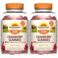 Sundown日落恩賜-50倍濃縮蔓越莓軟糖(75粒X2瓶)(效期至2022年1月31日)