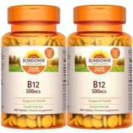 Sundown日落恩賜-茹素B12 500mcg錠(200錠X2瓶)