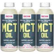 Jarrow賈羅公式 中鏈三酸甘油脂MCT Oil(椰子油來源)(591毫升X3瓶)(效期至2022年4月30日)